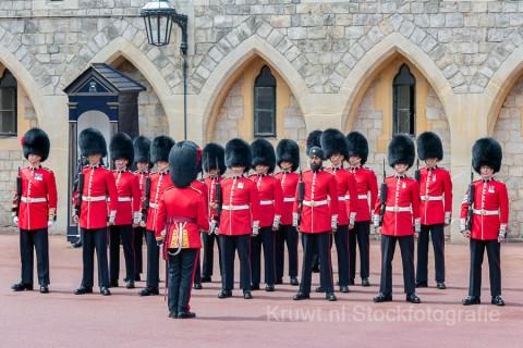 Wisseling van de wacht in Windsor Castle bij Londen
